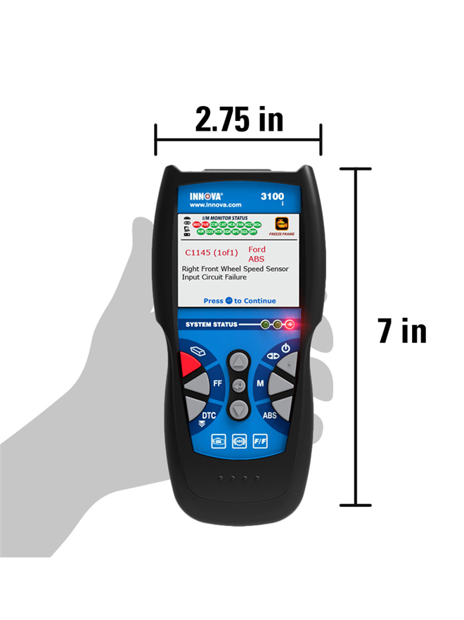 Innova 3100i canobd2 diagnostic scan tool code reader with abs
